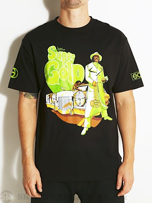 Gold Wheels Super Fly Tee Black SM