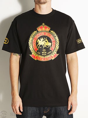 Gold Wheels World Cup Tee Black SM