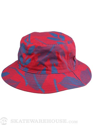 Girl Foliage Bucket Hat Red One Size