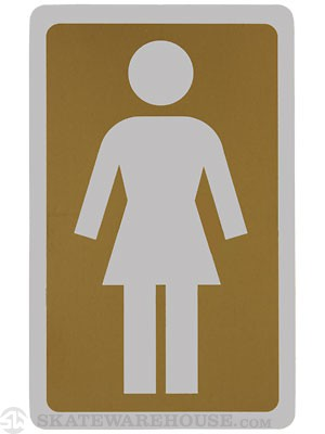 Girl Large OG Decal Sticker GOLD