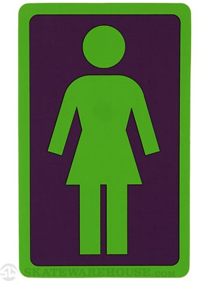 Girl Large OG Decal Sticker PURPLE