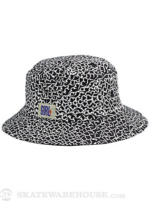 Girl Ridges Bucket Hat Black SM/MD