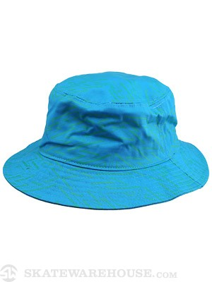 Girl Zig Zag Bucket Hat Teal One Size