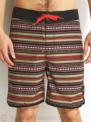 Globe Blanket Stripe Boardshorts Black 30
