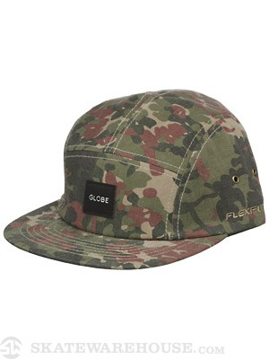 Globe Greenland 5 Panel Hat Camo Adjust