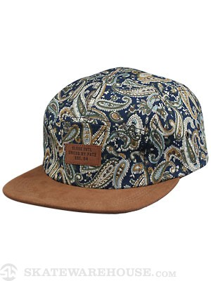 Globe Galleon 5 Panel Hat Navy Adj.