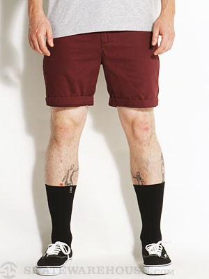 Globe Goodstock Chino Shorts Oxblood 30