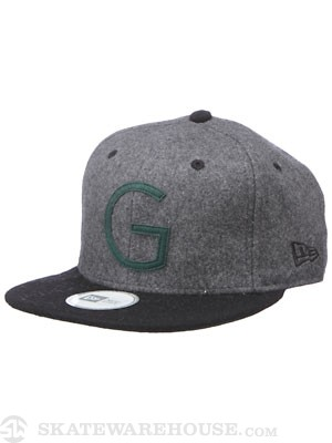 Globe Huntsmen New Era Snapback Hat Grey Adj.