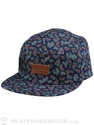 Globe Journey 5 Panel Hat Navy Adjust