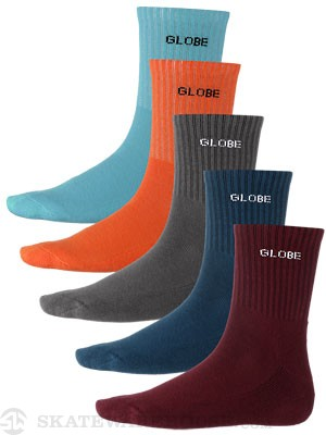 Globe Kensington Crew Socks 5 Pk. Assorted