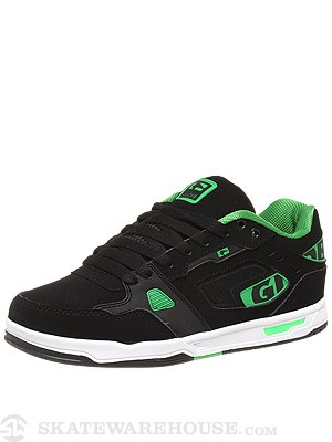 Globe Lock Shoes Black/Moto Green/White