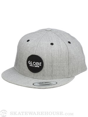 Globe Lock Up Snapback Hat Charcoal Adj.