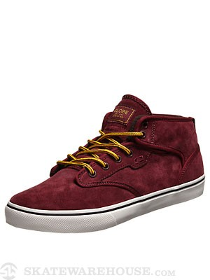 Globe Motley Mid Shoes Burgundy
