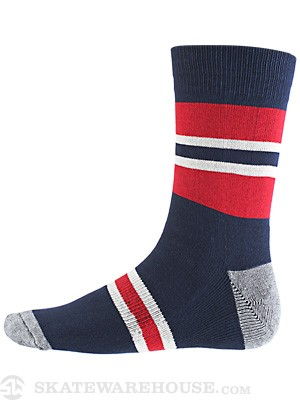 Globe Premium Socks Medium Stripe Navy/Red