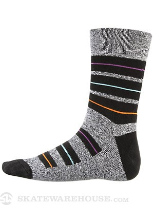 Globe Premium Socks Thin/Fat Stripe Black