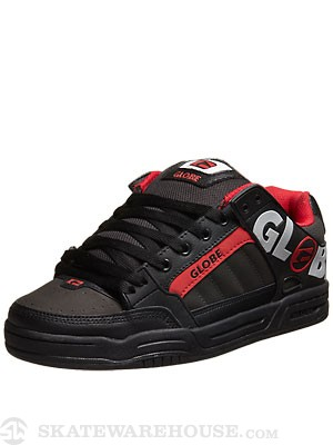 Globe Tilt Shoes Black/Grey/Red TPR