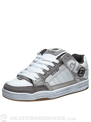 Globe Tilt Shoes White/Grey/TPR