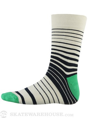 Globe Premium Socks Verigated Stripe White
