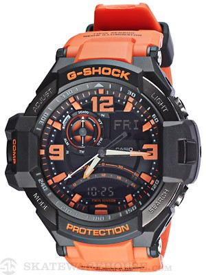 G-Shock GA-1000 Aviator Watch Brown/Orange