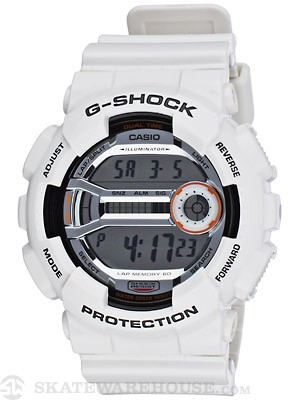 G-Shock GD-100 Series LAP Memory 60 Watch White