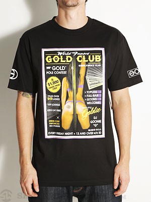 Gold Wheels Club Tee Black SM