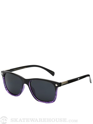 Glassy Biebel Sunglasses  Black/Clear Purple