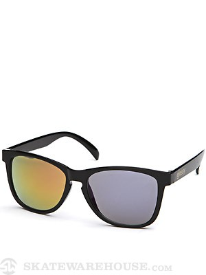 Glassy Deric Sunglasses  Black Red/Blue Mirror
