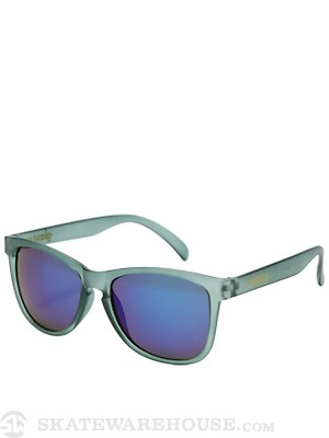 Glassy Deric Sunglasses Grey Clear Matte/Blue Mirror