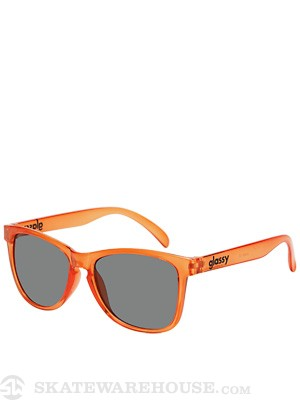 Glassy Deric Sunglasses Orange Clear