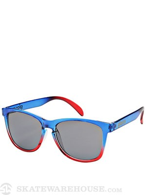 Glassy Deric Sunglasses  Clear Blue/Clear Red
