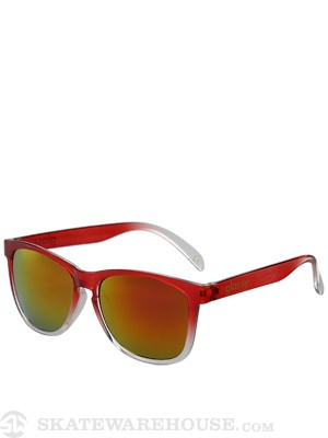 Glassy Deric Sunglasses  Transparent Red/Red Mirror