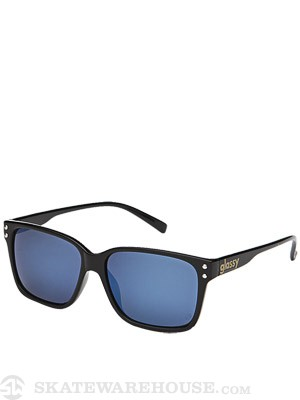 Glassy Fritz Sunglasses  Black/Blue Mirror