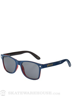 Glassy Leonard Sunglasses  Navy/Transparent Red