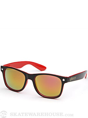 Glassy Leonard Sunglasses  Black/Red