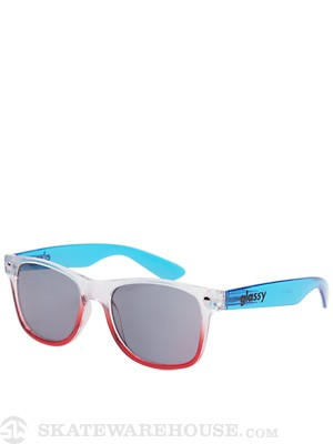 Glassy Nu Clear Sunglasses  Red/White/Blue