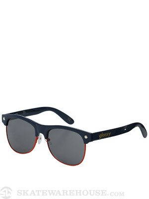 Glassy Shredder Sunglasses  Navy/Orange