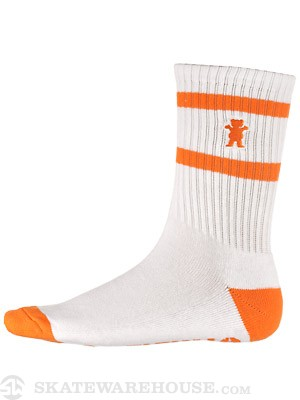 Grizzly Stamp High Cut Socks White/Orange