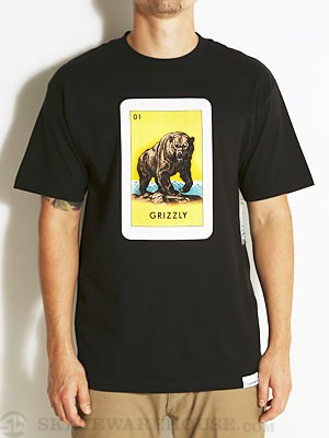 Grizzly El Grizzly Tee Black SM