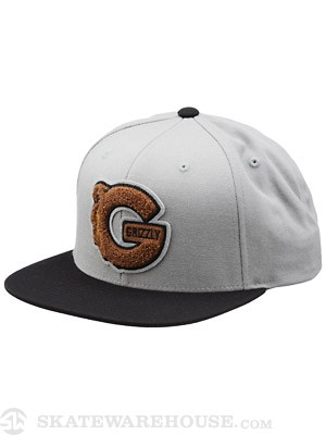 Grizzly G Logo Starter Snapback Hat Black/Grey