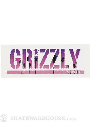 Grizzly Palm Stamp Sticker Purple/Pink