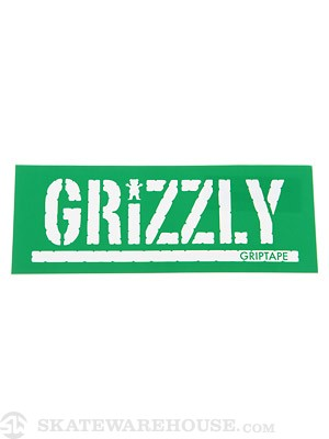 Grizzly Stamp Logo Sticker Green