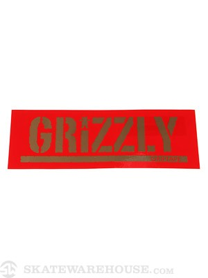 Grizzly Stamp Logo Sticker Red
