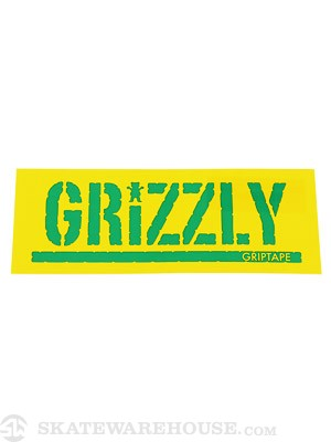 Grizzly Stamp Logo Sticker Yellow