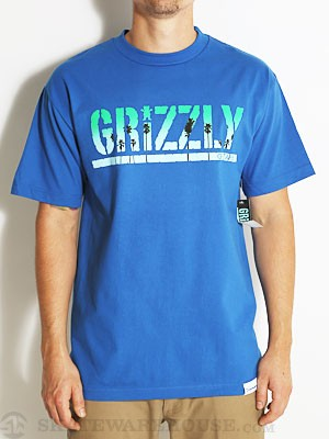 Grizzly Sunset Stamp Tee Royal LG
