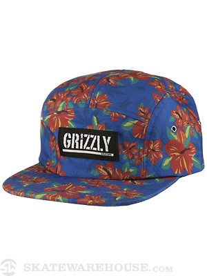 Grizzly Tropical High 5 Panel Hat Royal
