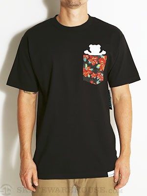 Grizzly Tropical High Pocket Tee Black SM