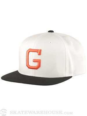 Grizzly Vintage G Snapback Hat White