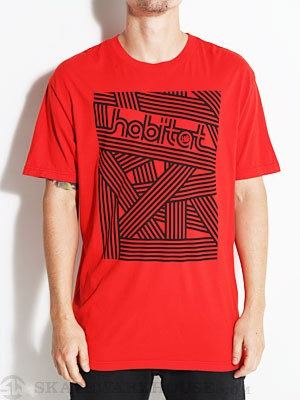 Habitat Interlace Tee Red MD