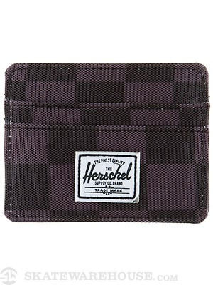 Herschel Charlie Card Wallet Black Checkerboard
