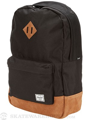 Herschel Heritage Suede Backpack Black